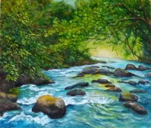昼下がりの渓流